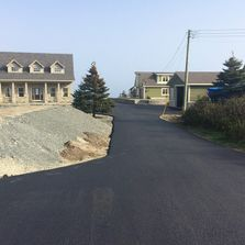 Road freshly paved